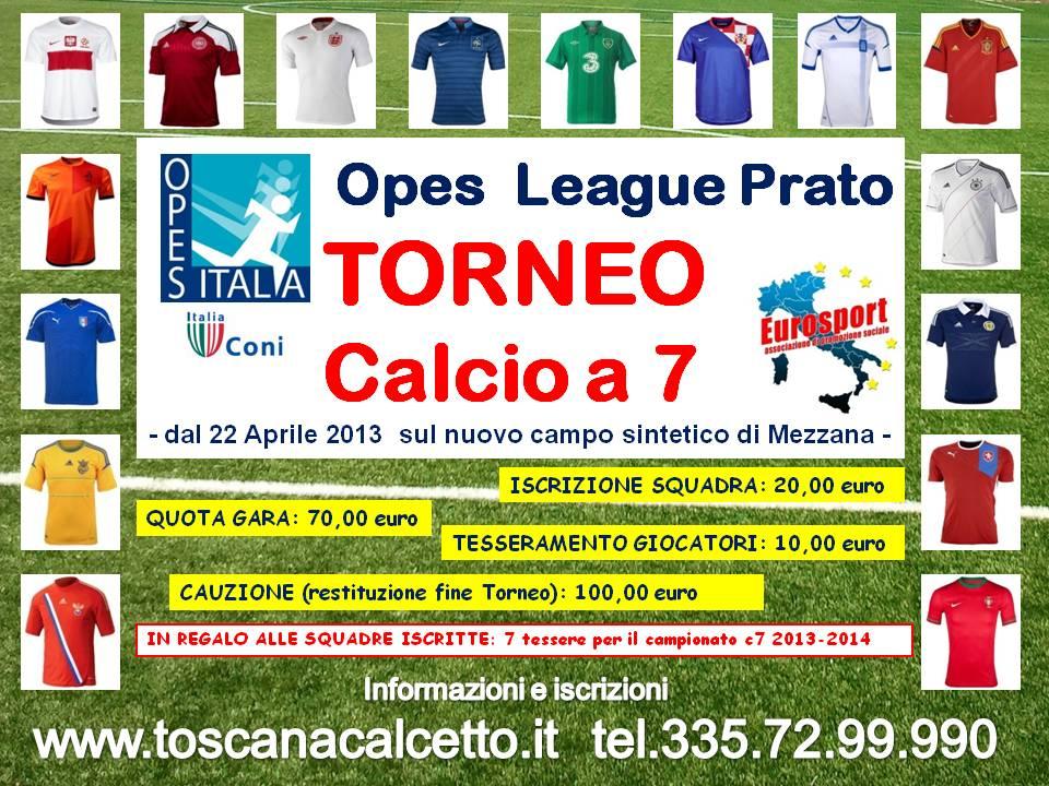 Calendario Torneo A 7 Squadre.Toscanacalcetto
